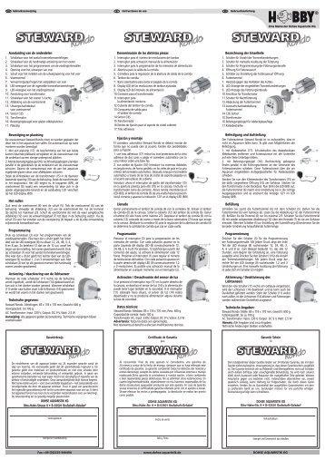 Instrucciones de uso / Steward Rondo - Dohse Aquaristik KG