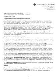 Allgemeine Verkaufs- und Lieferbedingungen - pharmacom ...