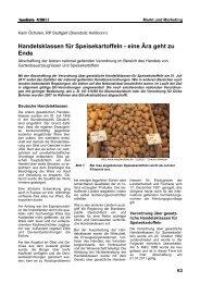 Handelsklassen für Speisekartoffeln - eine Ära geht zu Ende