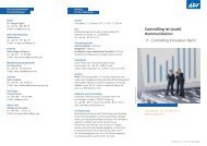 Controlling ist (auch) Kommunikation 11. Controlling Innovation Berlin