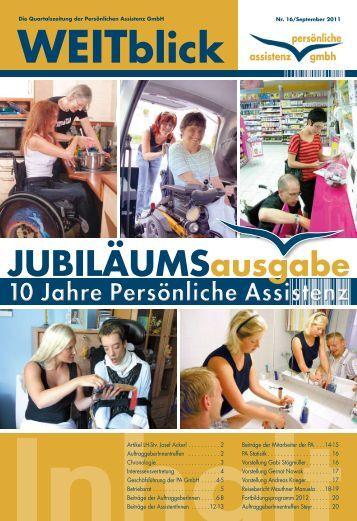09/2011 - Persönliche Assistenz GmbH