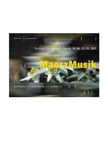 MaerzMusik 2007 - Berliner Festspiele