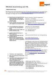 Bekanntmachung Subreport MUSTER - Die Vergabeplattform des ...