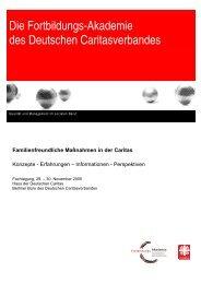 Familienfreundliche Maßnahmen in der Caritas - DIAG-MAV Freiburg