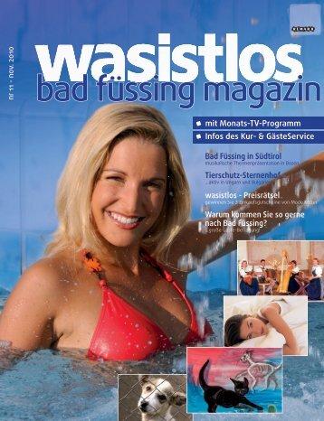 wasistlos badfüssing-magazin - Ausgabe November 2010
