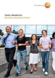 Testo Akademie Seminarübersicht 2012