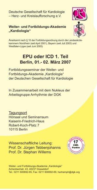 EPU oder ICD 1. Teil - Weiter- und Fortbildungsakademie ...