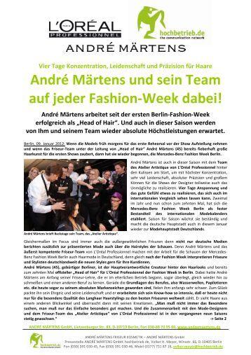 André Märtens und sein Team auf jeder Fashion-Week ... - Brandfaktor