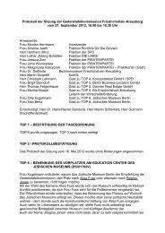 Protokoll der Sitzung der Gedenktafelkommission Friedrichshain ...