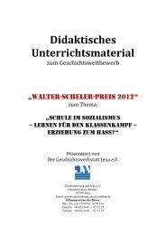 Didaktisches Unterrichtsmaterial - Geschichtswerkstatt Jena eV