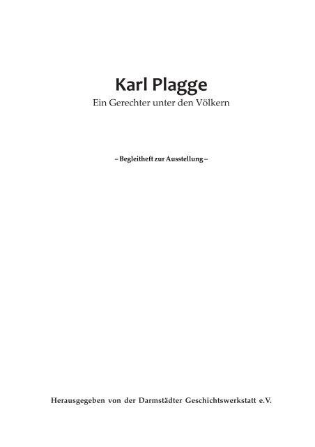 Karl Plagge - Darmstädter Geschichtswerkstatt