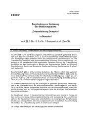 Begründung zur Änderung des Bebauungsplans ... - Stadt Donzdorf