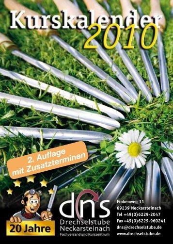 dns-Kurstermine 2010 - Drechselstube Neckarsteinach