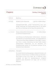 Veranstaltungs-Programm. - Dornbach