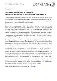 Übertragung von Immobilien im  Steuerrecht - Dornbach-Gruppe