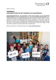 DORNBACH unterstützt Kinder bei der Teilnahme am Leseweltrekord