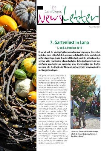 7. Gartenlust in Lana - SBZ