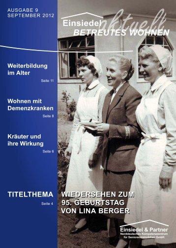 TiTelThema WieDersehen zum 95. GeburTsTaG von lina berGer ...