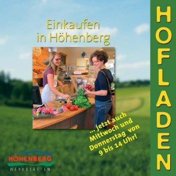 im Hofladen Höhenberg - Höhenberger Biokiste