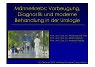 Vorbeugung, Diagnostik und moderne Behandlung in der