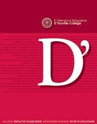 D'Mensions Magazine D'youville College