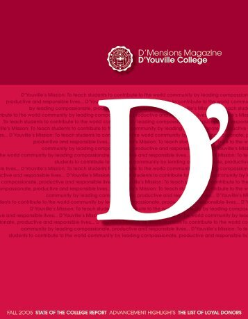 D'Mensions Magazine D'youville College