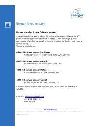 Berger Press release - a.berger