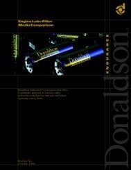 Engine Lube Filter Media Comparison - Donaldson Company, Inc.