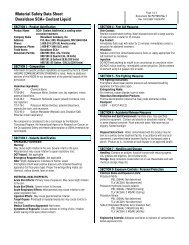 Material Safety Data Sheet Donaldson SCA+ Coolant Liquid