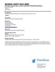 MATERIAL SAFETY DATA SHEET Donaldson Coolant Spin-on