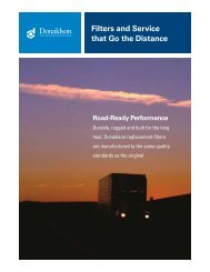 Filters and Service that Go the Distance - Donaldson Company, Inc.