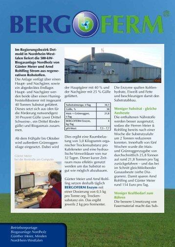 Betriebsreportage downloaden (PDF) - Bergophor Futtermittelfabrik
