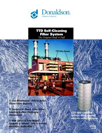 TTD Self-Cleaning Filter System - Donaldson Company, Inc.
