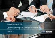 ESUG-Studie 2012 - Erste Praxiserfahrungen mit ... - Roland Berger