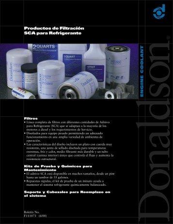 Productos de Filtración SCA para Refrigerante - Donaldson ...