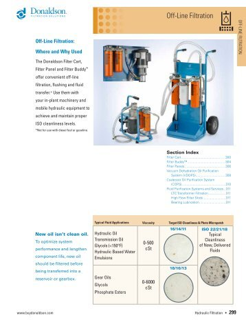 Off-Line Filtration - Donaldson Company, Inc.