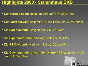 Folien PS-Versammlung 2001 - Basler Kantonalbank