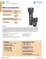 W061 Components - Donaldson Company, Inc.