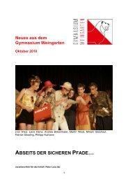 ABSEITS DER SICHEREN PFADE… - Gymnasium Weingarten