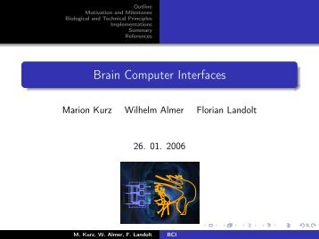 Brain Computer Interfaces - Computer Sciences