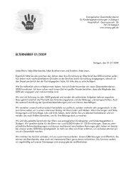 Elternbrief Januar 2009 - Evangelischer GEB Stuttgart