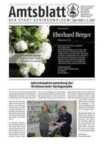 Eberhard Berger - Geringswalde