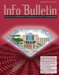 Admission Bulletin - Institute of Management and Information Science