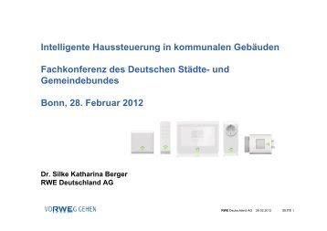 Intelligente Haussteuerung in kommunalen Gebäuden - Deutscher ...