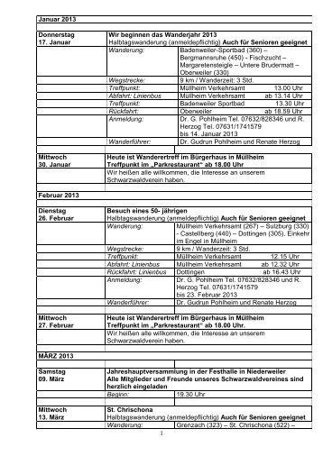 Jahresplan 2013 als PDF zum ausdrucken! - Schwarzwaldverein ...
