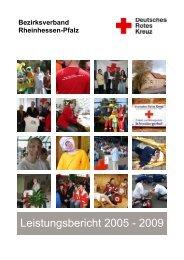 Leistungsbericht 2005 - 2009 - DRK Bezirksverband Rheinhessen ...