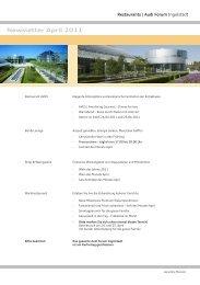 Newsletter April 2011 - Donaukurier