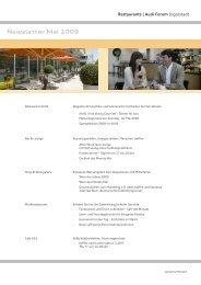Newsletter Mai 2009 - Donaukurier
