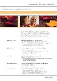 Newsletter Oktober 2008 - Donaukurier