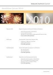 Newsletter Januar 2010 - Donaukurier